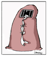 Cartoon: Go Out (small) by Carma tagged burqa women emancipation rights human cells prison woman and man society