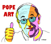 Cartoon: POPe Art (small) by Carma tagged pop,art,pope,francis