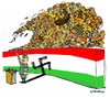Cartoon: the wall (small) by Carma tagged hungary,immigration,fluss,orban