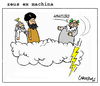 Cartoon: Zeus Ex Machina (small) by Carma tagged greece,elections,greek,zeus,god,islam,religion,politics,mohammed,allah,tsipras