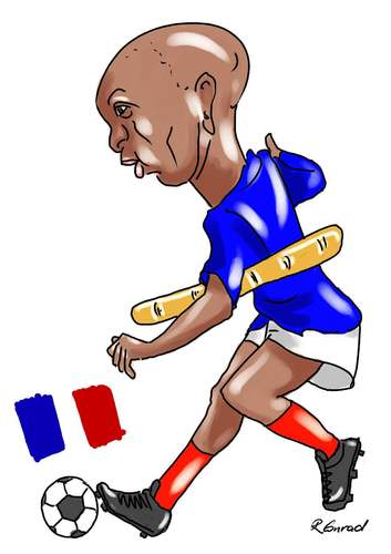 Cartoon: Thierry Henry (medium) by Ralf Conrad tagged thierry,henry,frankreich,baguette