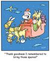 Cartoon: TP0197christmassantasleigh (small) by comicexpress tagged santa,claus,christmas,sleight,reindeer,flat,tire,spare