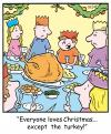 Cartoon: TP0242christmas (small) by comicexpress tagged christmas,xmas,family,meal,roast,dinner,turkey,food,child,children,kids,relatives