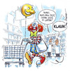 Cartoon: Clown im Supermarkt (small) by Hoevelercomics tagged clown,dieb,supermarket,supermarkt,mall