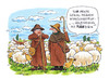 Cartoon: irgendwas mit MÄHdien (small) by Hoevelercomics tagged schafe,schäfer,sheep,shepard