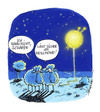 Cartoon: Wollmond (small) by Hoevelercomics tagged schaf,schäfer,natur,tier,tiere,vollmond,sheep,shepherd