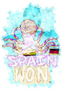 Cartoon: psychic octopus (small) by Radio-active Girl tagged football,psychic,octopus,spain,won
