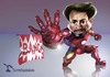 Cartoon: Iron Man BANG (small) by Rüsselhase tagged iron,man,civil,war,marvel
