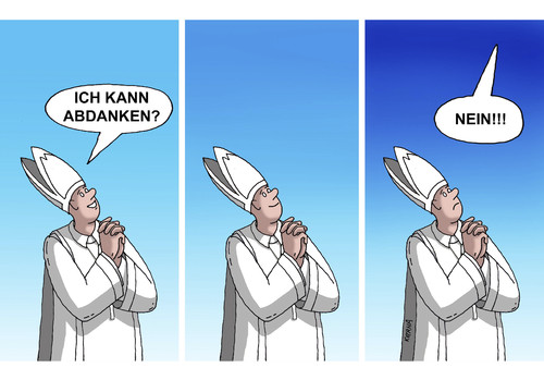 Cartoon: benedikt XVI (medium) by kotrha tagged cartoon