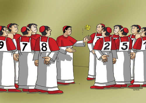 Cartoon: conclave (medium) by kotrha tagged pope,papst,conclave,vatikan