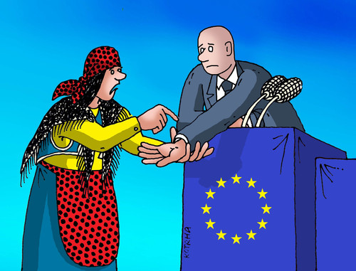 Cartoon: euvestica (medium) by kotrha tagged eu,summit,bratislava,slovakia