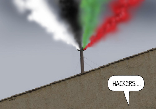 Cartoon: hackers (medium) by kotrha tagged papst,pope,konklave,conclave,hackers