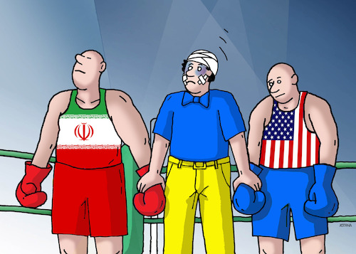Cartoon: iranbox (medium) by kotrha tagged irak,iran,ukraine,boeing,usa,world,war
