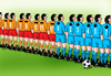 Cartoon: futplusmin (small) by kotrha tagged eu,championships,france,football,soccer