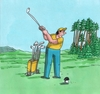 Cartoon: hribgolf (small) by kotrha tagged humor