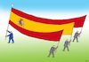 Cartoon: spainvlajka (small) by kotrha tagged catalonia,election,independence,spain,europe,euro,world