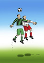 Cartoon: vyskok (small) by kotrha tagged football,fussball,soccer,world,championships,goal