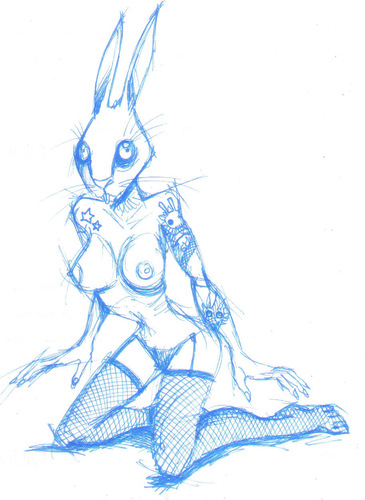 Cartoon: rabbit (medium) by maucho tagged rabbit,girl,playboy