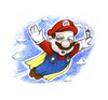 Cartoon: Cape Mario (small) by Trippy Toons tagged super,mario,trippy,marihu,weed,cannabis,stoner,kiffer,ganja,video,game