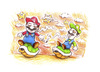 Cartoon: Mario and Luigi (small) by Trippy Toons tagged super,mario,luigi,trippy,marihu,weed,cannabis,stoner,kiffer,ganja,video,game