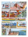 Cartoon: cat tail Page 2 (small) by Merkeyturkey tagged cat,boat,ship,map,gooney,pickles,prismacolor,markers