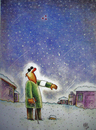 Cartoon: beklenti-expectation (small) by kotbas tagged winter,snow,blind