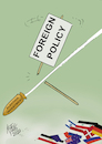 Cartoon: foreign policy (small) by kotbas tagged error,hata,selection,investment,policy