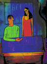 Cartoon: afternoon (small) by Jan Kment tagged couple,relationship,intimity,home,silence,empathy