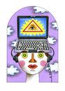 Cartoon: facebook (small) by Maya Tcholakova tagged zuckerbook
