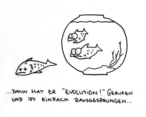 Cartoon: Evolution! (medium) by puvo tagged evolution,fisch,revolution