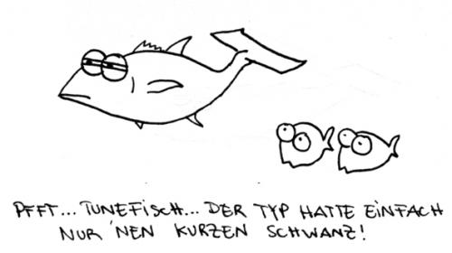 Cartoon: Tunefisch. (medium) by puvo tagged tuning,fisch