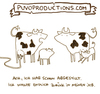 Cartoon: Abgestillt. (small) by puvo tagged job,beruf,frau,kind,kuh,milch,schwanger,mutter,arbeit,milchkuh