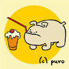 Cartoon: Domestizierung II (small) by puvo tagged domestizierung,bull,dog,bulldogge,milchshake,milkshake,hund