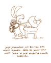 Cartoon: Mieses Schwein. (small) by puvo tagged ostern,easter,hase,bunny,schwein,pig,research,huhn,chicken,ei,egg,nest,krebsforschung,job,cancer