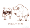 Cartoon: Mobbing. (small) by puvo tagged mobbing,bison,bitch,zoo