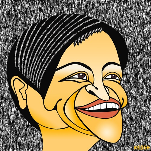 Cartoon: Penny Wong (medium) by KEOGH tagged penny,wong,caricature,australia,keogh,cartoons,politics,australian,politicians