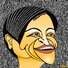 Cartoon: Penny Wong (small) by KEOGH tagged penny,wong,caricature,australia,keogh,cartoons,politics,australian,politicians