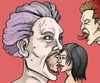 Cartoon: Screaming heads desire (small) by javierhammad tagged surreal,heads,scream,desire,sex,love,envy
