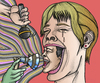 Cartoon: Screaming heads fame (small) by javierhammad tagged surreal,heads,scream,fame,microphone