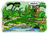 Cartoon: Heinz??? (small) by Egon58 tagged alligator,sumpf,heinz