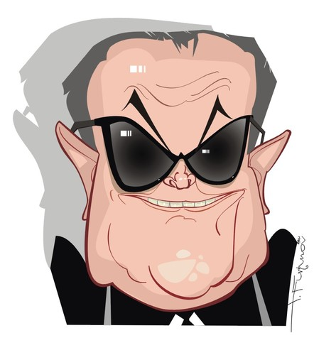 Cartoon: Jack Nicholson (medium) by FARTOON NETWORK tagged movie,actors