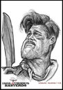 Cartoon: Caricature-Brad Pitt (small) by vim_kerk tagged caricature,brad,pitt,inglorious,bastard