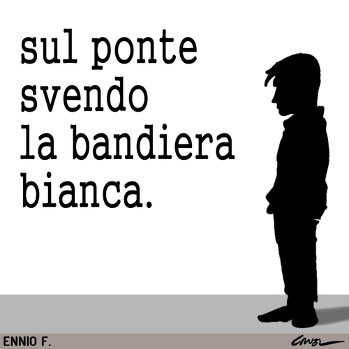 Cartoon: Bandiera bianca. (medium) by Cruel tagged politica,governo,berlusconi,battiato,economia,cruel