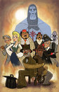 Cartoon: the last crusade (small) by stephen silver tagged indiana,jones,the,last,crusade,harrison,ford,stephen,silver