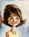 Cartoon: Jacqueline Kennedy Onassis (small) by doodleart tagged kennedy,celebrity,famous