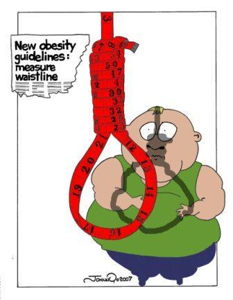 Cartoon: Obesity Guidelines (medium) by JohnnyCartoons tagged cartoon