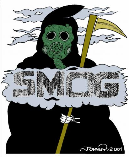 Cartoon: Smog Death (medium) by JohnnyCartoons tagged smog