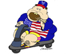 Cartoon: American Idle (small) by JohnnyCartoons tagged american,culture,obesity