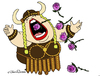 Cartoon: Brava Opera (small) by JohnnyCartoons tagged opera,singer,viking