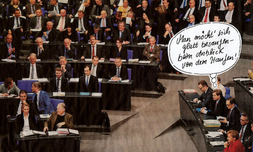 Cartoon: besaufen (medium) by Andreas Prüstel tagged afd,bundestag,cartoon,collage,andreas,pruestel